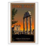Roma - ruinas del templo en el foro Romanum Tarjeta De Felicitación