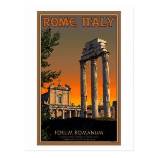 Roma - ruinas del templo en el foro Romanum Tarjetas Postales