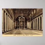 Roma, S. interior Maria Maggiore Poster