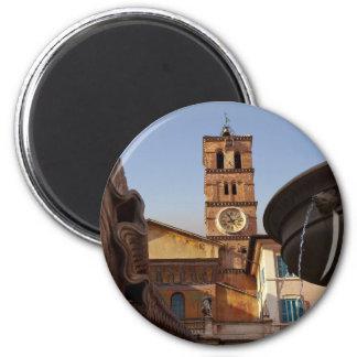 Roma - Santa María en Trastevere Imán Redondo 5 Cm