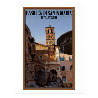 Roma - Santa María en Trastevere Tarjeta Postal