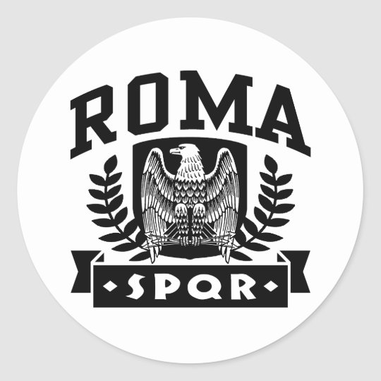 Roma SPQR Classic Round Sticker