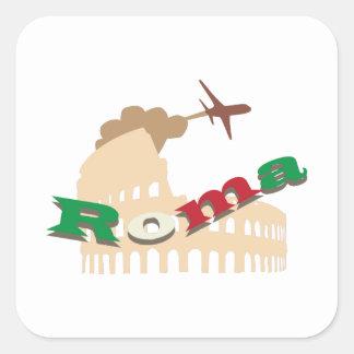 Roma Square Sticker
