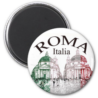 Roma Stamped 2 Inch Round Magnet