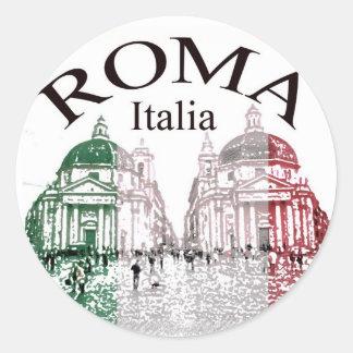 Roma Stamped Classic Round Sticker