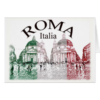 Roma Stamped Greeting Card