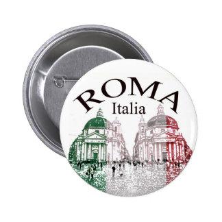 Roma Stamped Pinback Button