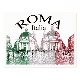 Roma Stamped Postcard