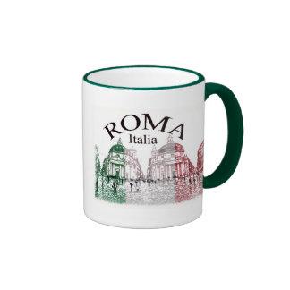 Roma Stamped Ringer Coffee Mug