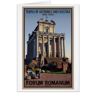Roma - templo de Antoninus y de Faustina Tarjeta