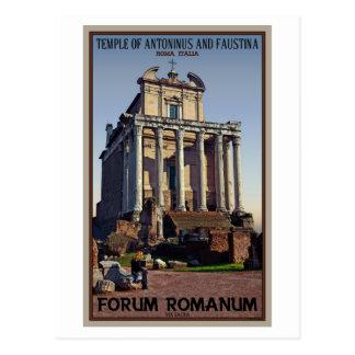 Roma - templo de Antoninus y de Faustina Postal