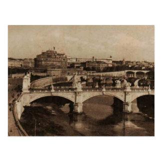 ROMA tiende un puente sobre la reproducción 1920 Postal