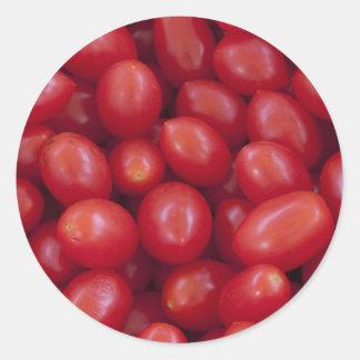Roma Tomatoes Classic Round Sticker