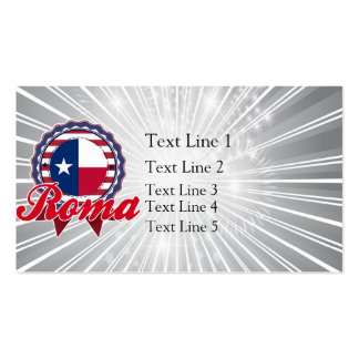 Roma, TX Business Card Template
