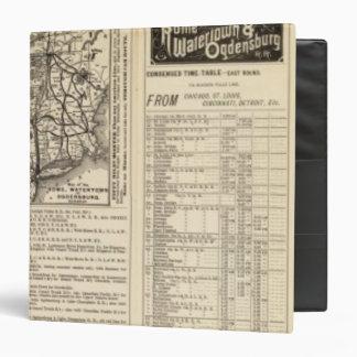"Roma, Watertown y ferrocarril 2 de Ogdensburg Carpeta 1 1/2"""