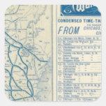 Roma, Watertown y ferrocarril de Ogdensburg Calcomanías Cuadradass