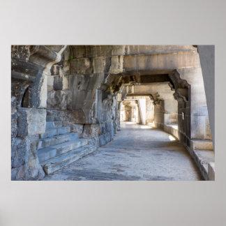 Roman Amphitheater Hallway Poster