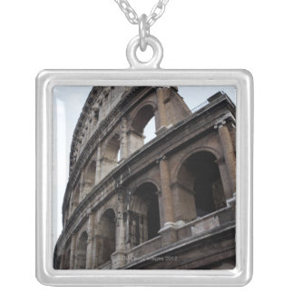 Roman amphitheatre 2 silver plated necklace
