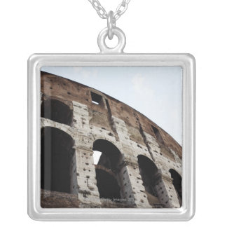 Roman amphitheatre silver plated necklace