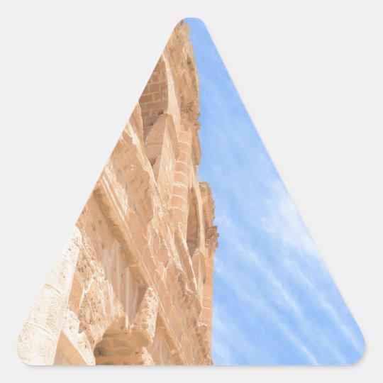 Roman Ampitheatre Triangle Sticker