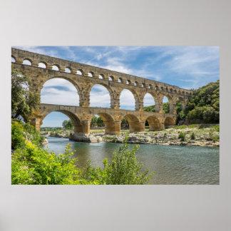 Roman Aqueduct Over River, France Poster