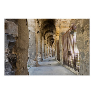 Roman Arena Hallway, France Poster