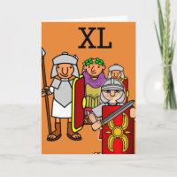 Roman Army Fortieth Birthday Greetings Card