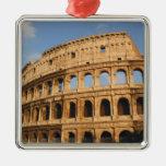 Roman Art. The Colosseum or Flavian 3 Square Metal Christmas Ornament