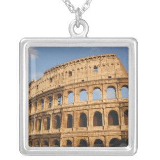 Roman Art. The Colosseum or Flavian 3 Square Pendant Necklace