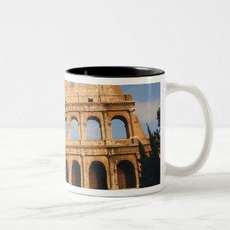 Roman Art. The Colosseum or Flavian 3 Two-Tone Coffee Mug