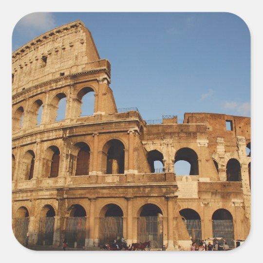 Roman Art. The Colosseum or Flavian 4 Square Sticker