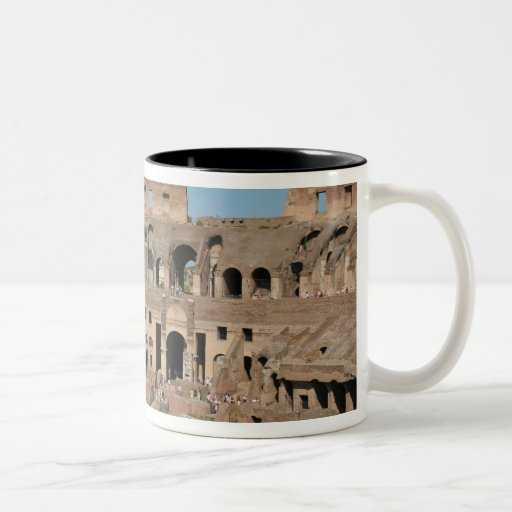Roman Art. The Colosseum or Flavian 6 Two-Tone Coffee Mug