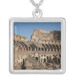 Roman Art. The Colosseum or Flavian 7 Square Pendant Necklace