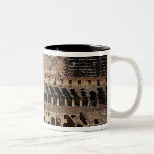 Roman Art. The Colosseum or Flavian 7 Two-Tone Coffee Mug