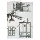 Roman Ballistic Machinery, from the 'Encyclopedie Greeting Card