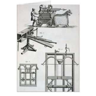 Roman Ballistic Machinery, from the 'Encyclopedie Card