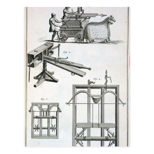 Roman Ballistic Machinery, from the 'Encyclopedie Postcard
