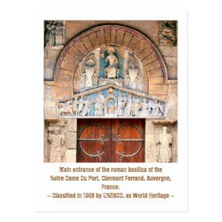 Roman basilica of the Notre Dame du Port, France Postcard