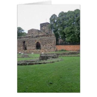 Roman Bathhouse in Leicester, England Card