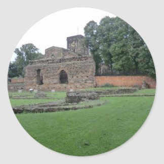 Roman Bathhouse in Leicester, England Classic Round Sticker