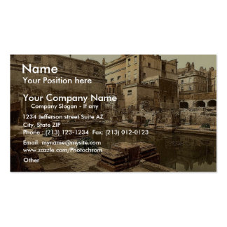 Roman Baths and Abbey, Bath, England classic Photo Double-Sided Standard Business Cards (Pack Of 100)