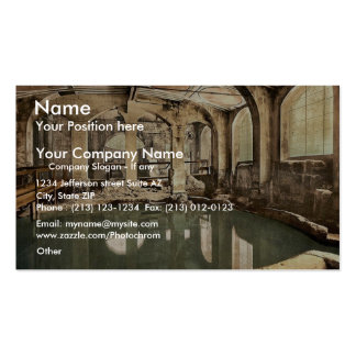 Roman Baths and Abbey, Circular Bath, Bath, Englan Double-Sided Standard Business Cards (Pack Of 100)