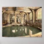 Roman Baths and Abbey, Circular Bath, Bath, Englan Poster
