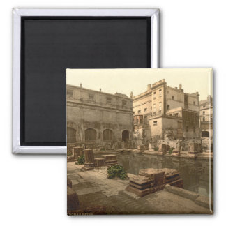 Roman Baths and Abbey I, Bath, Somerset, England 2 Inch Square Magnet