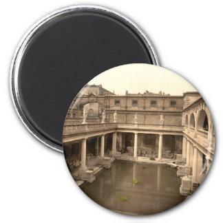 Roman Baths and Abbey II, Bath, Somerset, England 2 Inch Round Magnet