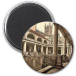 Roman Baths and Abbey, III, Bath, England classic Magnets