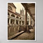Roman Baths and Abbey, III, Bath, England classic Poster