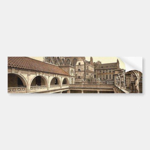Roman Baths and Abbey, IV, Bath, England classic P Car Bumper Sticker