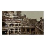 Roman Baths and Abbey, IV, Bath, England classic P Business Card