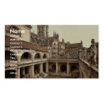 Roman Baths and Abbey, IV, Bath, England classic P Double-Sided Standard Business Cards (Pack Of 100)